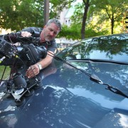 Rigging a large camera to a car