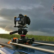 Portable Camera Dolly with Canon C100 : RigWheels