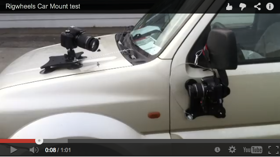 Car Mount Test using RigWheels Camera Mounting Equipment