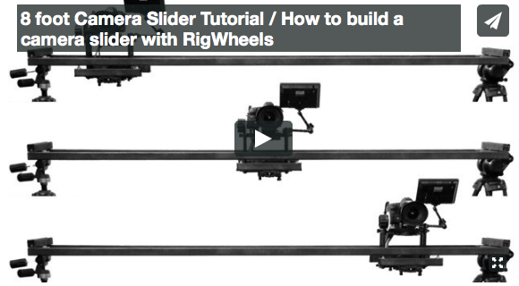 DIY 8 foot Camera Slider Tutorial