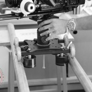 camera dolly made using grip pipe