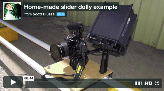 Homemade Camera Dolly Example