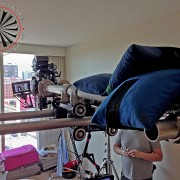 Overhead Camera Dolly with Arm Extending out over Subjet