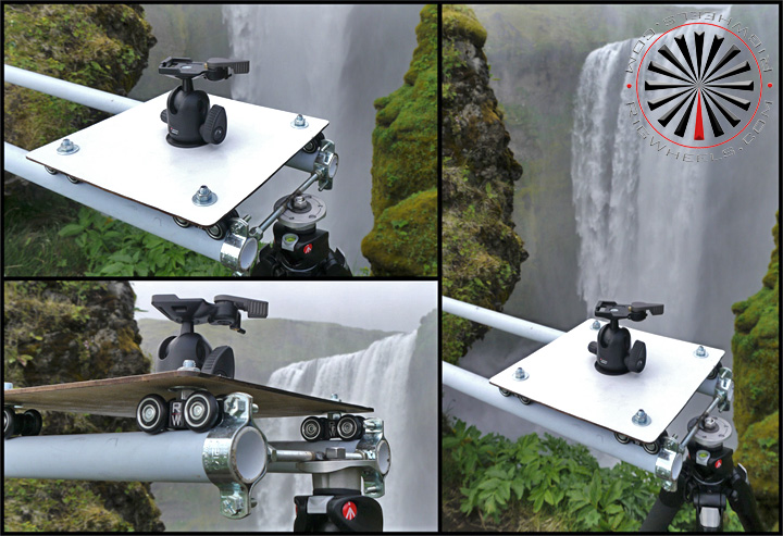 Portable camera slider on remote location production