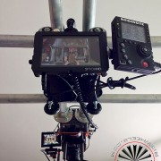 rigging a camera from above to shoot down