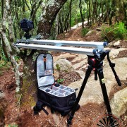 Travel Camera Dolly setup with RigWheels Slider Components