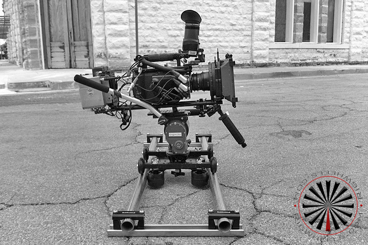 professional camera rig set up lo mode on a camera slider