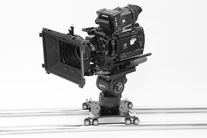 Portable Camera Slider for Large Camera Sony f3