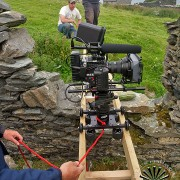 Red Epic on Wood Camera Dolly